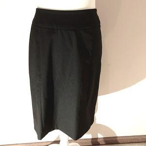 New York & Company Black Pinstriped Skirt NWT